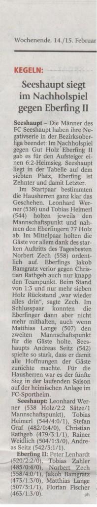 Bericht Seeshaupt-Eberfing 11.02.2015